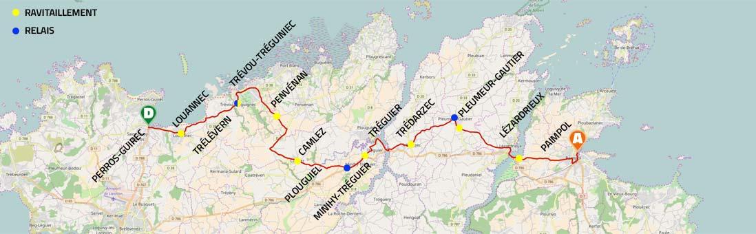 Les 13 communes traversées par le marathon